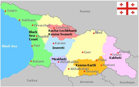 Dmanisi Georgia Map.Georgia Map Dtmu India